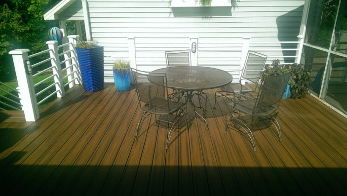 Jeff Smith found Trex decking easy to work with when he built his own outdoor space.