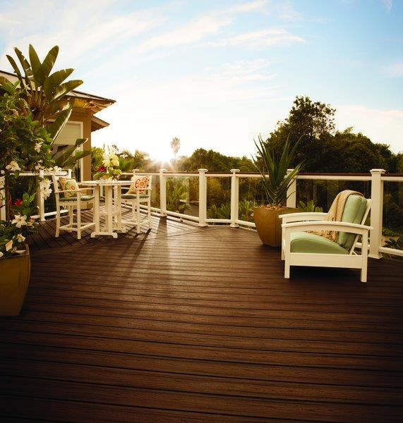 Trex outdoor living collection includes decking, railing, lighting, furniture and more