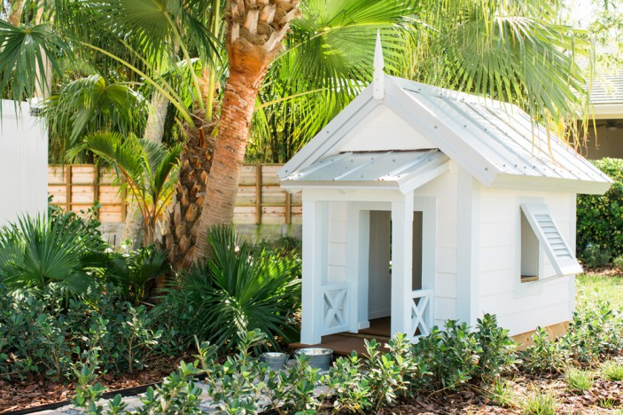 Trex decking was used to create this whimsical doghouse at the HGTV Dream Home 2016.